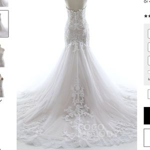 NWT Cocomelody Mermaid Tulle Lace Wedding Dress